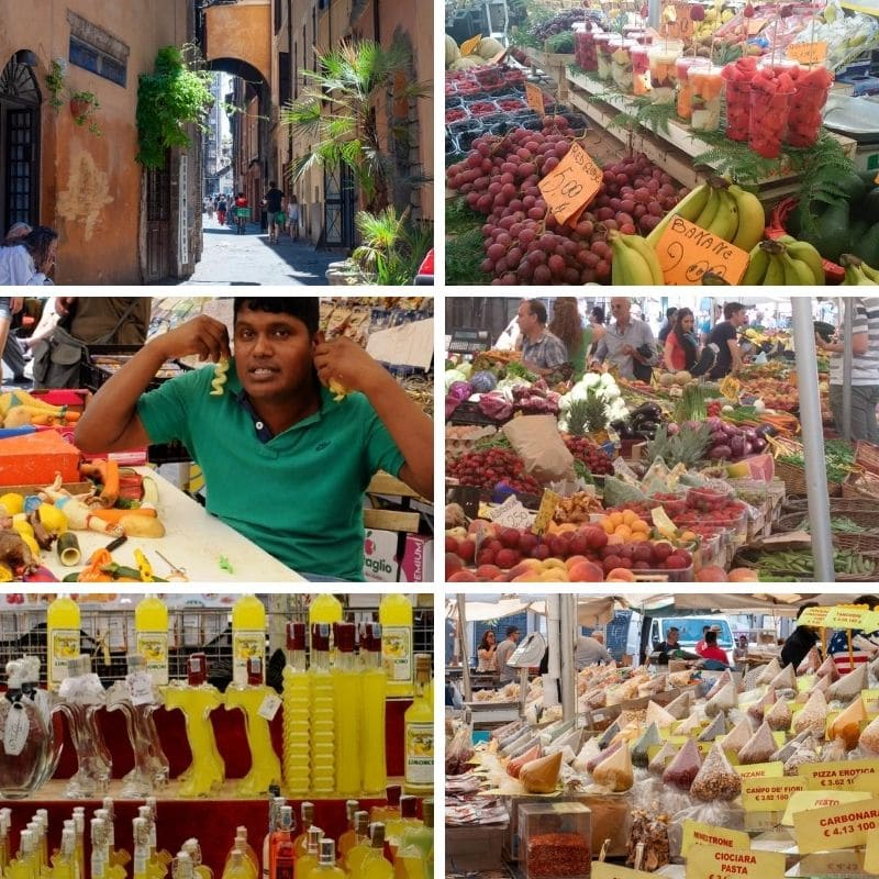 Collection of images from Campo de' Fiori
