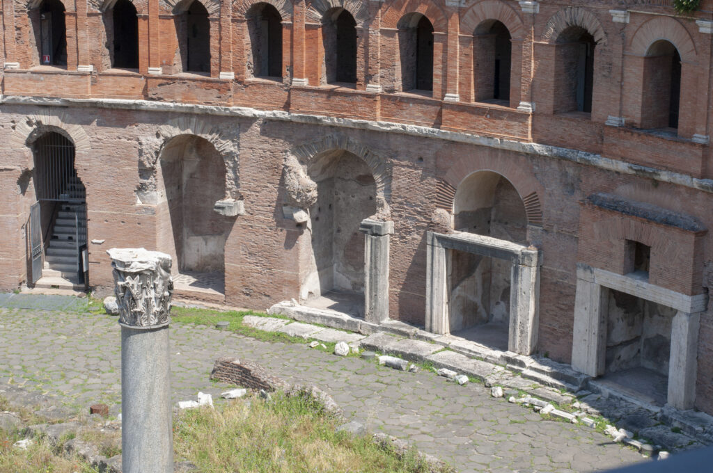 Ancient Roman markets and office buildings