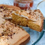 apricot jam cake with marshmallow frosting