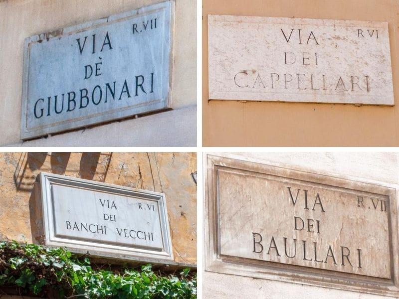 Street names plates