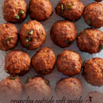 Crunchy deep-fried meatballs flavored with parmesan, garlic, and lemon zest. I like to serve them with creamy vegetable stew and couscous. It is such a delightful dinner, even your children will ask for a second serving.