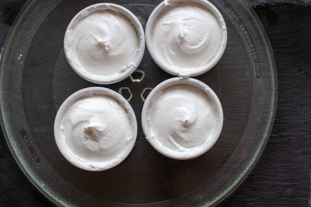 French meringue inside ramekin