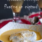 Ile flottante means floating island and consists in a foaming meringue floating in a crème anglaise (custard) sprinkled with caramel and pralines. It can be a challenging recipe.If you want to make it at home, here are step by step instructions, easy to follow and with a guaranteed success. #yourguardianchef #dessert #frenchrecipe