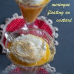 Ile flottante recipe can be challenging. it means floating island and consists in a foaming meringue floating in custard topped with caramel and pralines. #yourguardianchef #dessert #frenchdessert