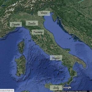 Italian regions map