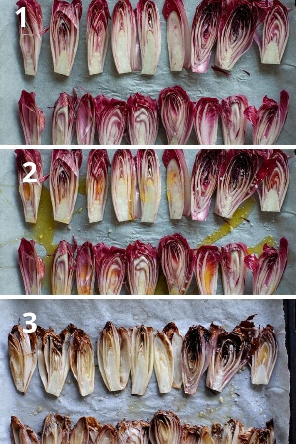 cooking red chicory