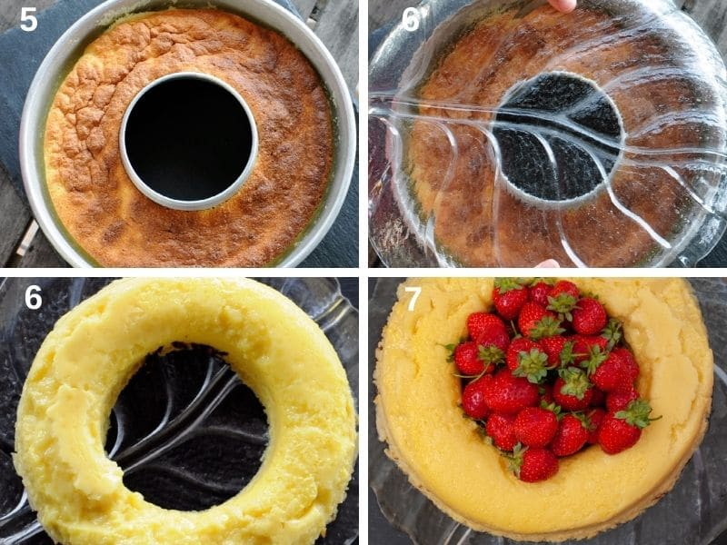 Step by step how to serve the lemon magic cake