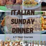 """An Italian Sunday dinner """"il pranzo della domenica"""" is the occasion for family bonding and celebration. There is no need for a special occasion, it happens every Sunday. The family gets together for lunch right after Sunday Mass: 5 Italian meal courses and everyone is involved in the preparation, in one way or another."""