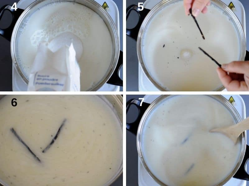 step by step how to prepare the cream