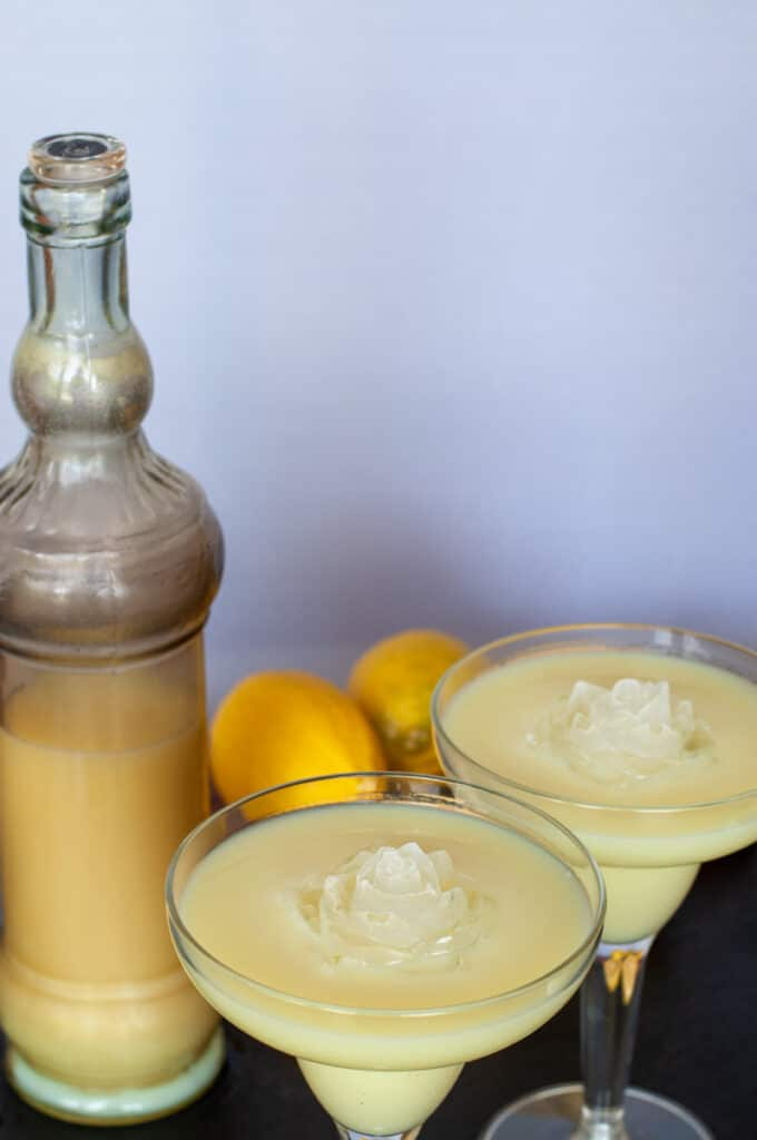 store the limoncello cream in a fancy bottle
