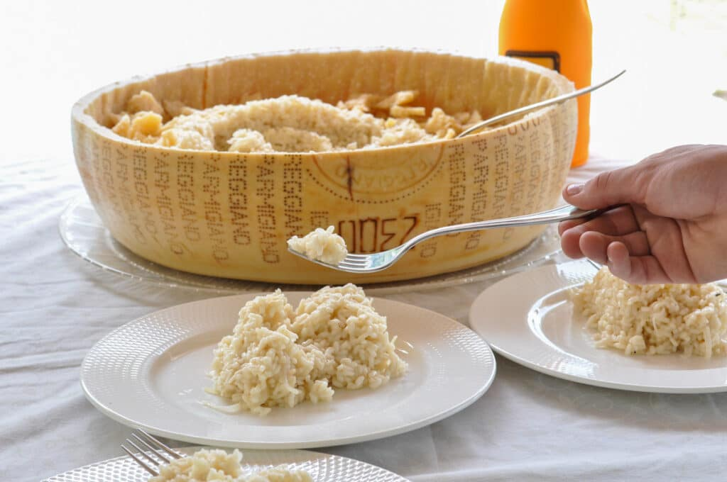 texture of the Champagne risotto