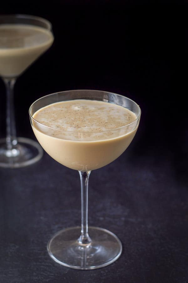chocolate eggnog Martini