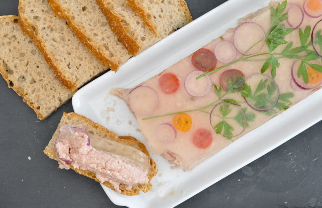 How to serve the ham spread terrine