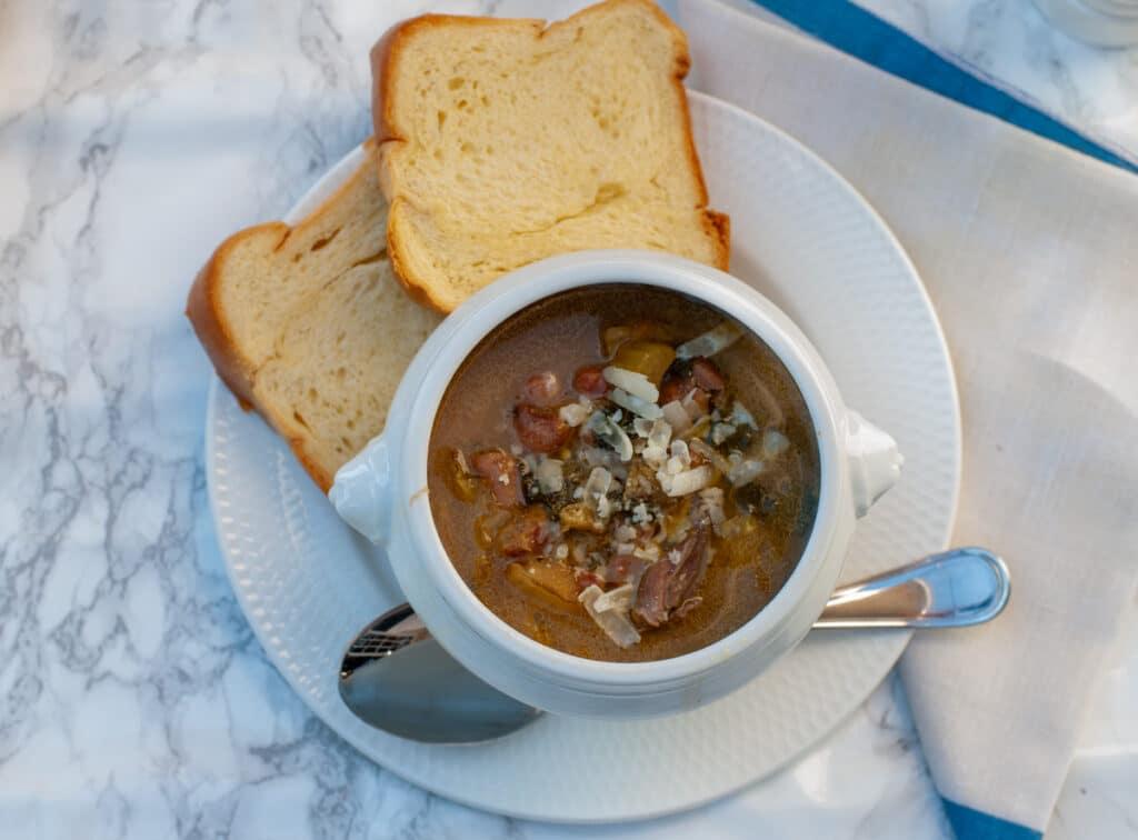 Italian chicken soup minestrone