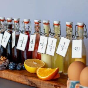 Homemade Italian Liqueurs Edible Gifts