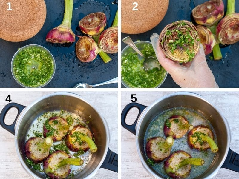 how to make roman artichokes in a pressure cooker