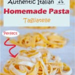 This homemade Italian pasta recipe is the authentic recipe for pasta all'uovo (pasta with egg) which is the dough of the classic Italian homemade pasta like tagliatelle, fettuccine, spaghetti, lasagne, tortellini, and ravioli. Once you master it, it is a fun recipe to make with children.