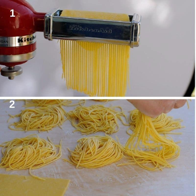 Making spaghetti