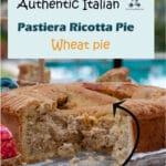 Pastiera Napoletana is a ricotta pie typically baked for Easter. The filling is made with wheat mixed with ricotta and has a distinctive flavor of the flower orange water and lemon zest.