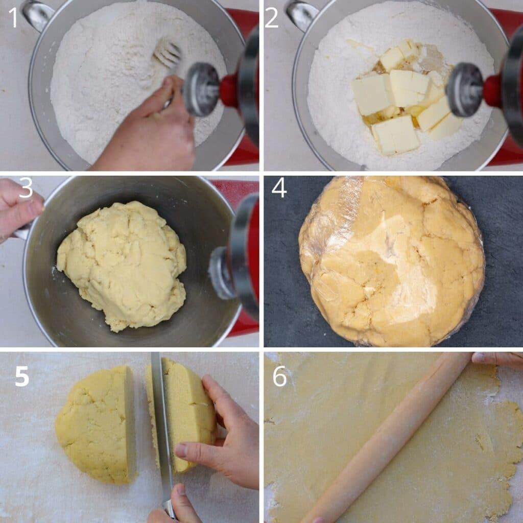 step by step prepare the dough
