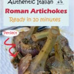Cooking artichokes in pressure cooker is such an easy way to have the most tender and flavorful artichokes in under 5 minutes. Roman artichokes are my favorite, chunky juicy artichokes pressure steamed with garlic and mint.