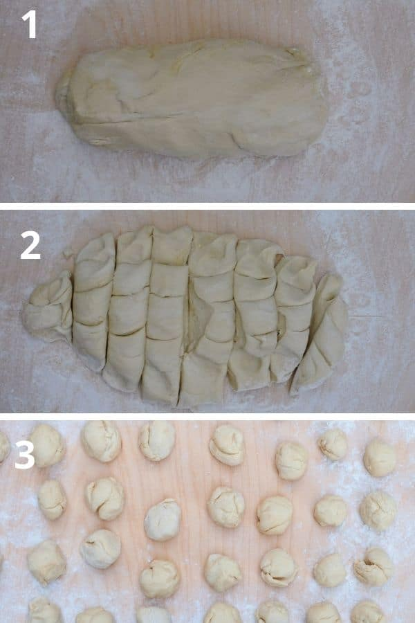 shaping the pizzette