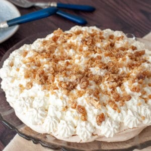 Chestnut pavlova mont blanc meringues
