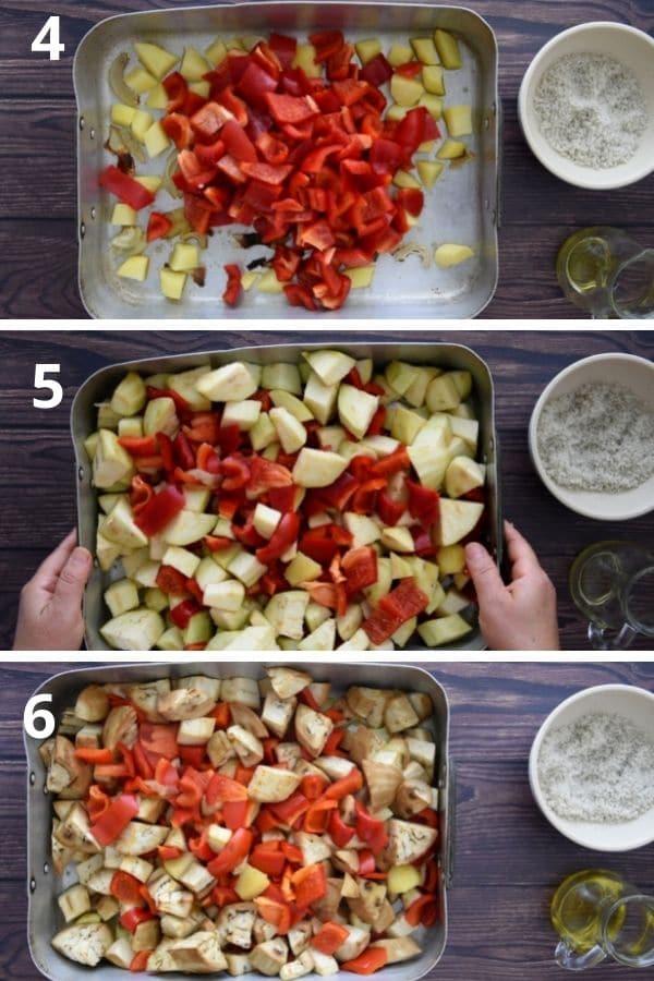bake peppers and eggplants